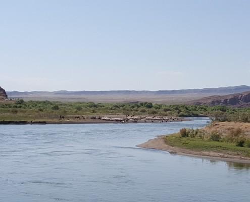 رود مرزی ارس در جلفا